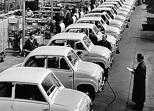 Dräxlmaier Group - The first order for the Dräxlmaier Group: 50,000 wiring harnesses for the Goggomobil made by Hans Glas GmbH in Dingolfin