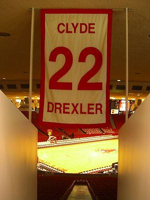 Clyde Drexler - One of only five numbers retired by the University of Houston men's basketball team, Drexler's No. 22 hangs in Hofheinz Pavilion.