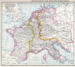 Carolingian Empire - The division of 843