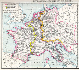 Carolingian Empire - The division of 843