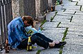 Drunk man in Saint Petersburg, Russia. During the White Nights in Summer, people love to drink and to party. Some then need an early break. (32866545022).jpg