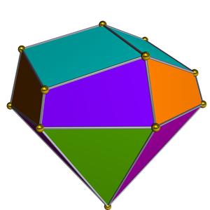 Elongated triangular cupola - Image: Dual elongated triangular cupola