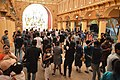 Durga Puja Pandal Interior With Visitors - Ballygunge Durga Puja Samiti - Maddox Square - Kolkata 2017-09-26 3973.JPG