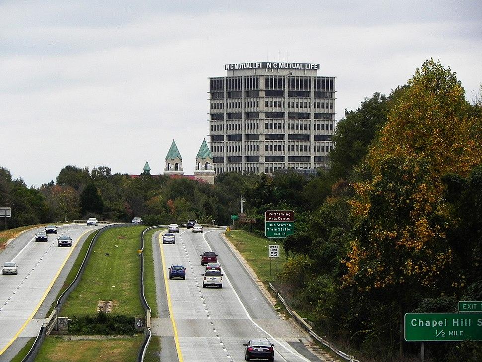 Durham downtown North Carolina Mutual Life Insurance Company Building