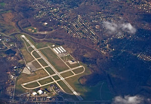 Hudson Valley Regional Airport - Aerial view of the airport in November 2008