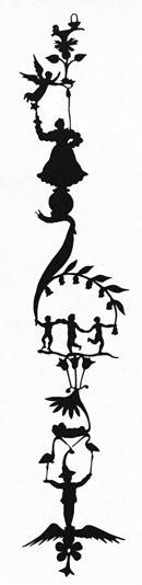 Groteske Figurensäule mit Fortuna auf der Kugel des Glücks (Quelle: Wikimedia)