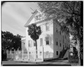 EAST SIDE AND NORTH REAR - Governor Thomas Bennett House, 1 Lucas Street, Charleston, Charleston County, SC HABS SC,10-CHAR,124-8.tif