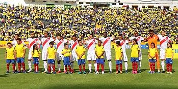 Flores con la plantilla titular que alineó contra Ecuador en Quito d1dcabc4c9398