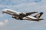 EGLL - Airbus A380 - Singapore Airlines - 9V-SKF (43209454734).jpg