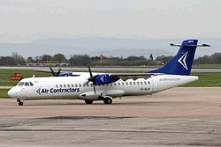 ATR 72-200F der ASL Airlines Ireland noch in den Farben der Air Contractors