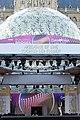 ESC2015 Eurovision Village Rathausplatz Wien Bühne Conchita Wachsfigur 01.jpg