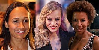 Eurovision Song Contest 2015 - The presenters (from left) Alice Tumler, Mirjam Weichselbraun and Arabella Kiesbauer.