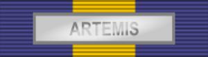 International decoration - Image: ESDP Medal ARTEMIS ribbon bar
