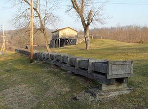 Curtin Village - Image: Eagle Ironworks Sluice Dec 12