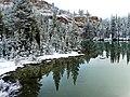 Early Snow on Tuolumne Meadow Pond, Yosemite 9-15 (30450530973).jpg