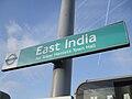 East India DLR stn signage.JPG