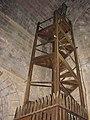 Eglise de Thines (Ardèche 07) - Escalier d'accès au clocher.jpg