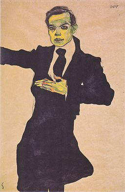 Egon Schiele - Der Maler Max Oppenheimer - 1910