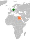 Lage von Deutschland und Ägypten