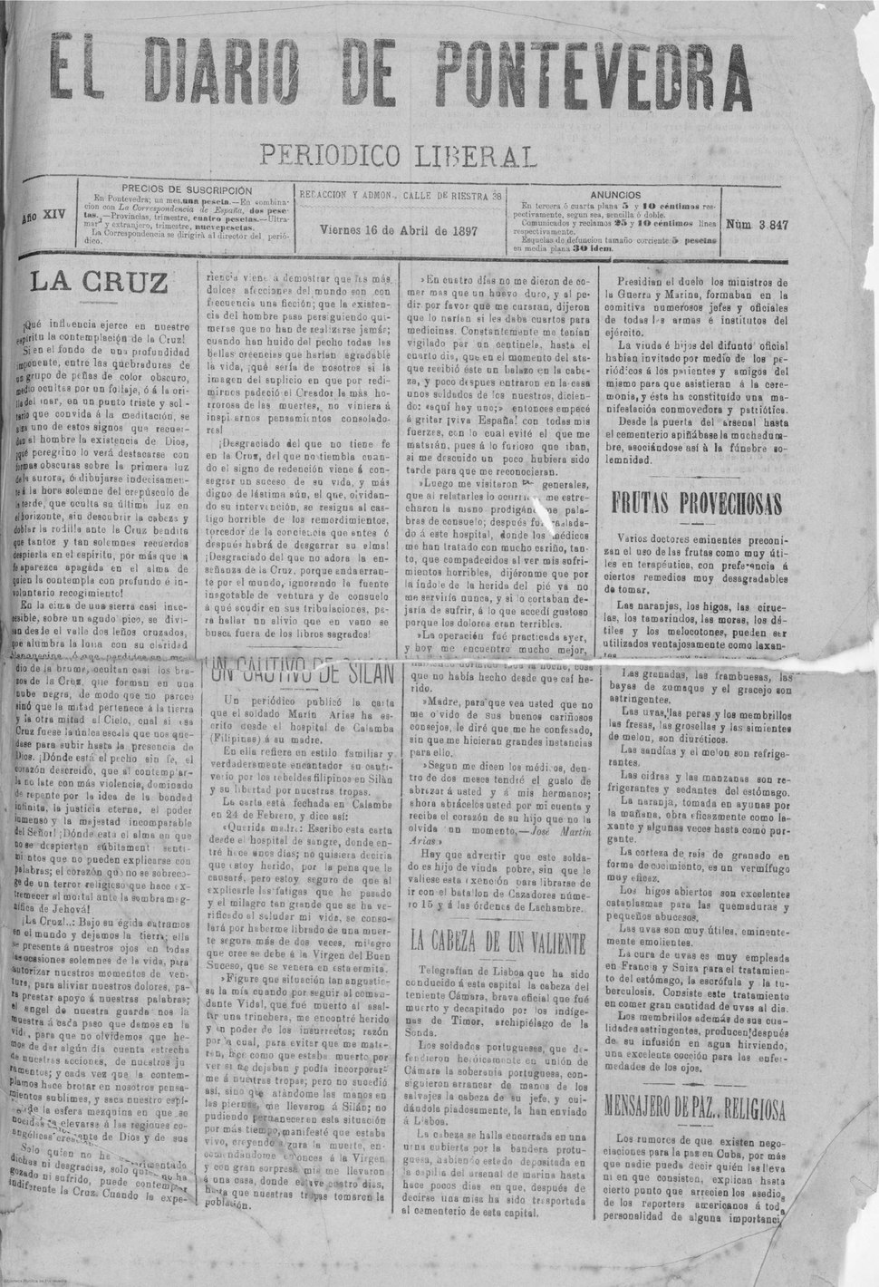 El Diario de Pontevedra. Año XIV Número 3847 - 1897 abril 16.pdf