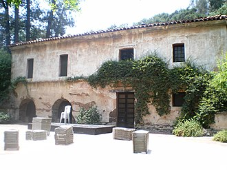 San Marino, California - View of the Old Mill from rear courtyard