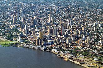Sierra de la Plata - View of modern-day Asunción, Paraguay.
