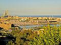 El port vell i la Barceloneta des de Miramar.jpg