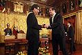 El presidente Correa condecora al Embajador de Bolivia (6894147199).jpg