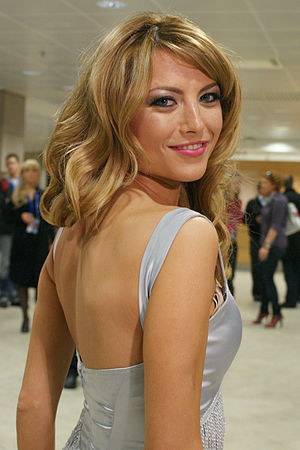 Elena Gheorghe - Gheorghe attending a meeting in Moscow after the Eurovision Song Contest 2009 semi-final.