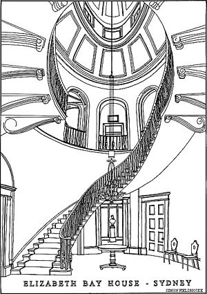 Elizabeth Bay House - Image: Elizabeth Bay House Staircase Simon Fieldhouse