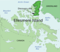 Ellesmere Island - Tiktaalik discovery site.png