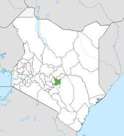 Location of Embu County (Green)