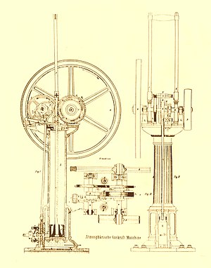 Otto engine - The Otto/Langen Atmospheric Engine of 1867.