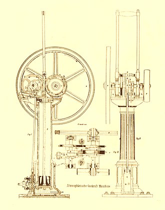 Gas engine - Otto-Langen gas engine 1867.