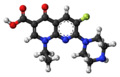 Enoxacin molecule ball.png