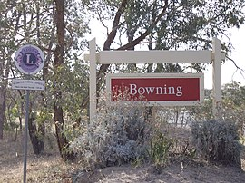 Entering Bowning