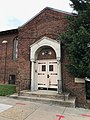 Entrance, United in Christ Seventh Day Adventist Church (1917), 3401 Old York Road, Baltimore, MD 21218 (26813492717).jpg