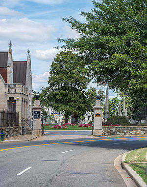Glenwood Cemetery (Washington, D.C.) - Entrance to Glenwood Cemetery