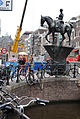Equestrian statue of Queen Wilhelmina (Rokin canal). Amsterdam, Netherlands, Northern Europe.jpg