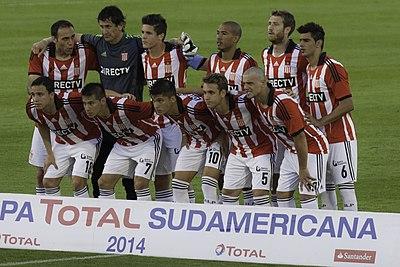 ab030af65 Estudiantes starting XI against Peñarol in the 2014 Copa Sudamericana.