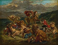 Eugène Delacroix - Lion Hunt - 1922.404 - Art Institute of Chicago.jpg