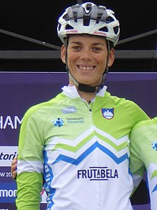 Eugenia Bujak - 2018 UEC European Road Cycling Championships (Women's road race).jpg