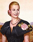 Official portrait of Eva Perón