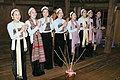 Evening entertainment -- traditional singing & dancing by the village womenfolk. (4115404438).jpg