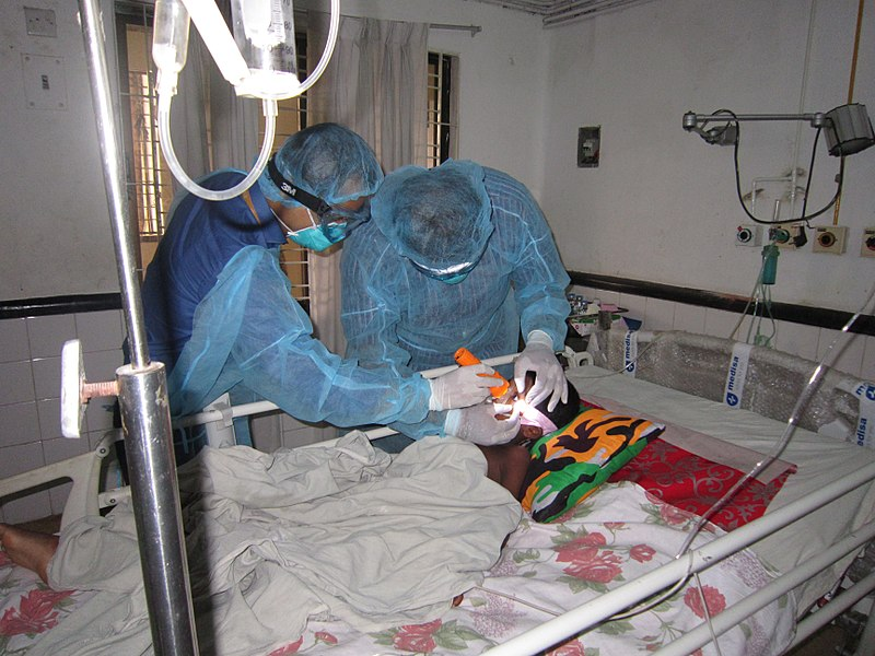 File:Examination of Encephalitis Patient - Bangladesh (17057553625).jpg