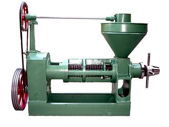 Expeller pressing - An expeller used for expeller pressing