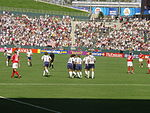 USA playing Canada in the 2003 FIFA Women's World Cup