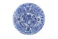 Fat av fajans med blå kinesiserande underglasyrmålning - Skoklosters slott - 93324.tif