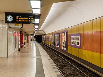 Fehrbelliner Platz (Berlin U-Bahn) - Platform of the U7