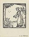 Felix Timmermans - Geboortekaartje Gommaar - 1930 - xylogravure - Royal Library of Belgium - S.I 47243 (front).jpg